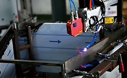 不锈钢架激光跟踪焊接