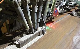 金属管道外壁激光跟踪