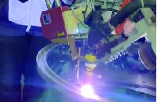 换热设备激光跟踪焊接